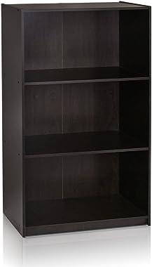 Furinno Basic 3-Tier Bookcase Storage Shelves, Espresso