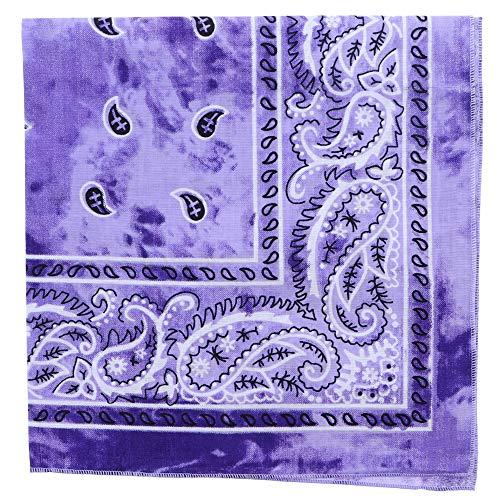 Tie Dye Paisley Bandana-Purple