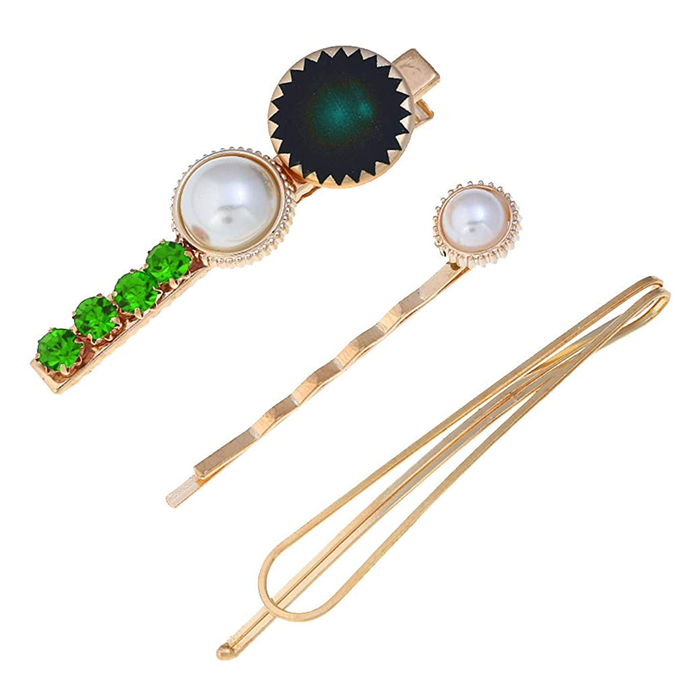 Cathy Clara Women's Fashion Hair Clip Trendy Sweet Romantic Pearl Button Sen Retro Multicolor Hairpin Girl Jewelry