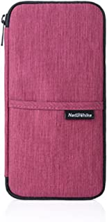 Naturehike Multi Function Outdoor Bag for Cash Passport Card Multi Using Travel Wallet (Wine Red)
