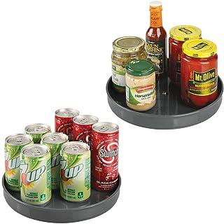 mDesign - Draaiplateau - kruidenrek/kruidenstandaard - voor buffetkast en keukenkast - voor peper, bakingrediënten en conf...