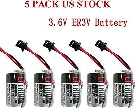 JZSP-BA01 3.6V ER3V 1000mAh PLC Lithium Battery for Toshiba PLC CNC Machine US Stock (Pack of 5)