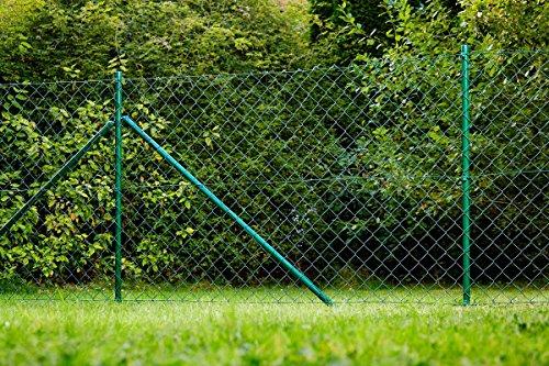 Power Tec Maschendrahtzaun Zaun Gartenzaun Komplettset Zaunsatz 15 x 1,25 m grün geprüft