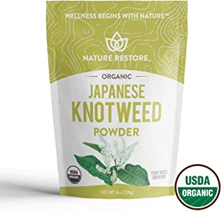 USDA Certified Organic Japanese Knotweed Powder, 226 Grams, Natural Trans-resveratrol, Non GMO, Gluten Free, Also Known as Polygonum Cuspidatum