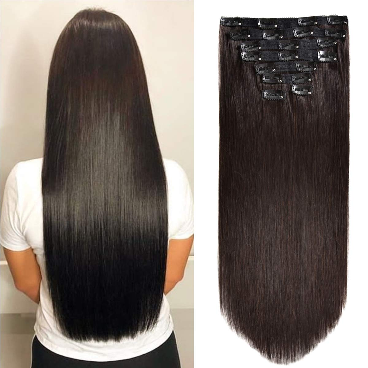 Hair Extensions Opening Very popular large release sale Clip In Human Lace Remy Hu Double Weft edge