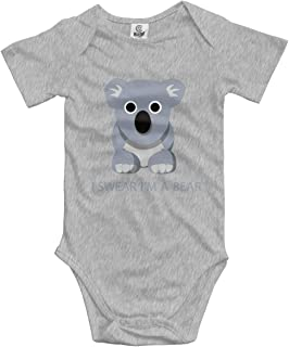 CHETI Funny Raccoon Newborn Infant Toddler Baby Girls Boys Bodysuit Short Sleeve 0-24 MonthsBlack