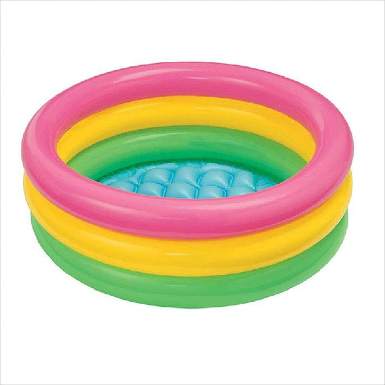 AJZGF Thick plastic baby inflatable bathtub washbasin baby swimming pool bathroom family bathtub pink yellow green three colors Bathtub