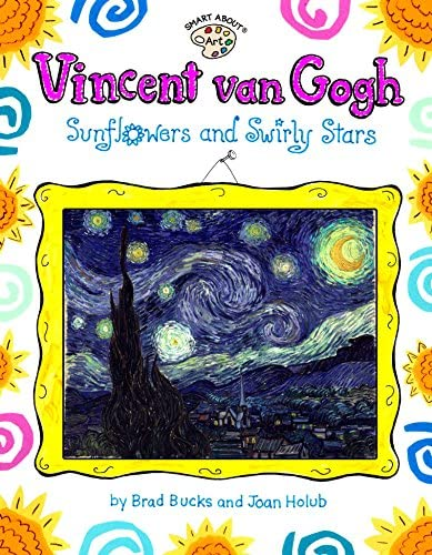 Vincent Van Gogh Sunflowers and Swirly Stars Smart About Art product image