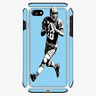 Phone Case Compatible with 3D Printed iPhone 7/iPhone 8 DIY Fashion Picture,Game Rugby Player Run Original Retro Illustration,Personalized Designed Hard Plastic Cell Phone Back Cover Shell Protective