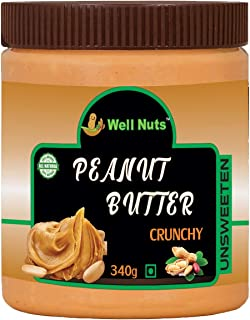 Well Nuts Peanut Butter 100% Natural Crunchy Unsweetened