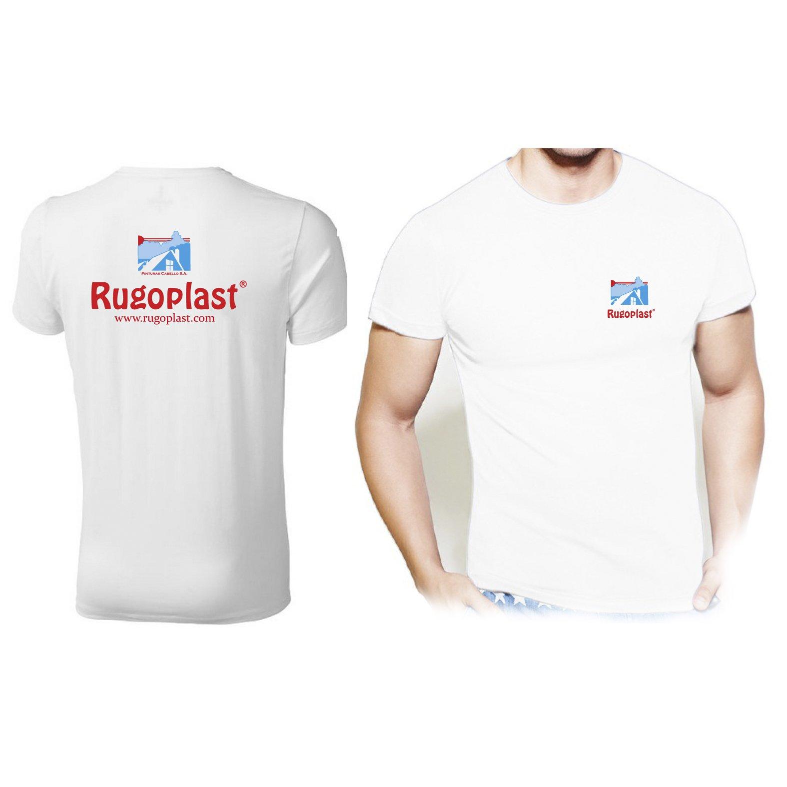 Camiseta de manga corta blanca unisex 100 x 100 algodón 150 gramos Rugoplast Varias Medidas M, L, XL, XXL (Blanco, L) Envío GRATIS: Amazon.es: Deportes y aire libre
