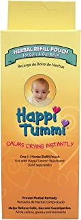 Happi Tummi Herbal Refill Pack - Relief for Infants and Babies with Colic,  Gas,  and Upset Tummies (1 Pack)