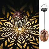Lanterna Solare Esterni, Tyndallrays Lanterna solare da appendere Vintage Impermeabile IP4...