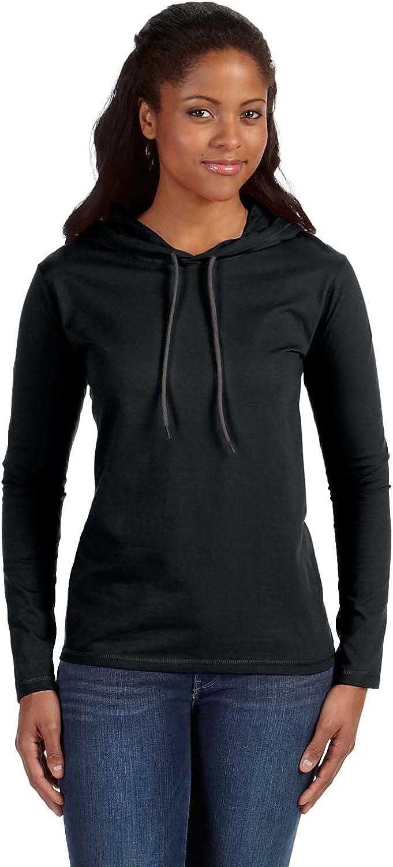 Anvil Womens Lightweight Unlined Hooded T-Shirt