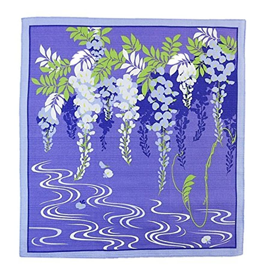 FUROSHIKI- Japanese Traditional Wrapping Cloth (Flower-scene: Spring Wisteria)