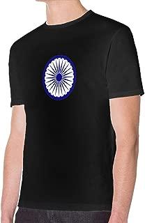 Pipixianjsnwn Ashoka Chakra Man's Cotton Short Sleeve T Shirt