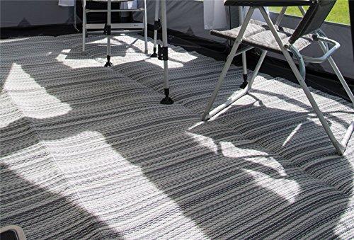 Kampa 250 cm x 450 cm exquisiter atmungsaktiver Wohnwagen-Vorzelt-Teppich