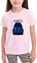 Funny Cotton Kids Challe-nger Hell-cat Red-Eye - Blue Shirts Pink
