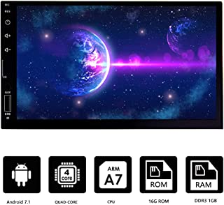 Double Din Vehicle Navigation Touch Screen,Android 7.1 1GB RAM 16GB ROM 7¡°Car Radio AM/FM Radio Receiver/Bluetooth/GPS/WiFi Connection/Mirror Link ¡­