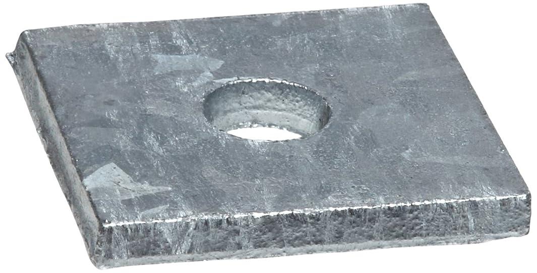 Steel Flat Washer, Galvanized Finish, #8 Hole Size, 0.813