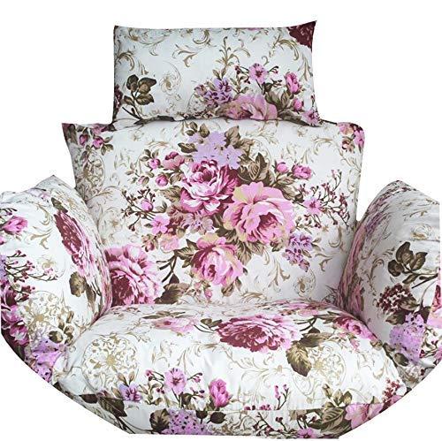 JD Bug Stoel kussen Opknoping eierhangmat, verdikte nestvorm Katoen hangstoel met kussen Minibank voor tuin Huis-r 60x50x58cm (24x20x23inch)