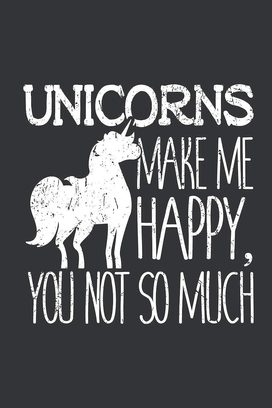 スカーフ集めるバイオリニストNotebook: Unicorns Make Me Happy You Not So Much Lover Journal & Doodle Diary; 120 Dot Grid Pages for Writing and Drawing - 6x9 in.