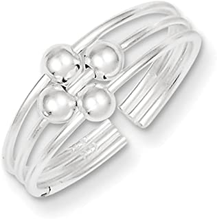 Lex & Lu Sterling Silver Toe Ring LAL23582