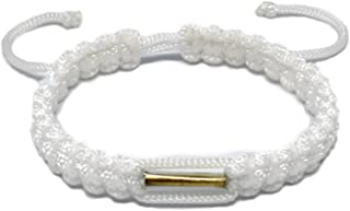 Origin Siam Handmade Thai Wristband with Brass Amulet | Blessed Woven Macrame Bracelet | for Karma Good Luck Love Friendsh...
