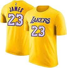Outerstuff Lebron James Los Angeles Lakers Yellow Youth Name & Number Jersey T-Shirt (Medium 10/12)