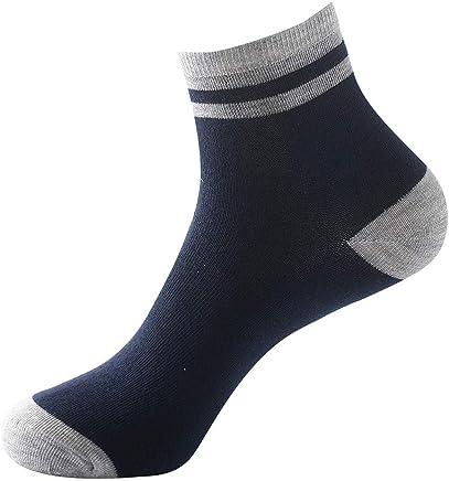 8cbb160f1b6f2 SoonerQuicker 1 paire de chaussettes 100% coton pur non élastique pour  hommes sport fil d