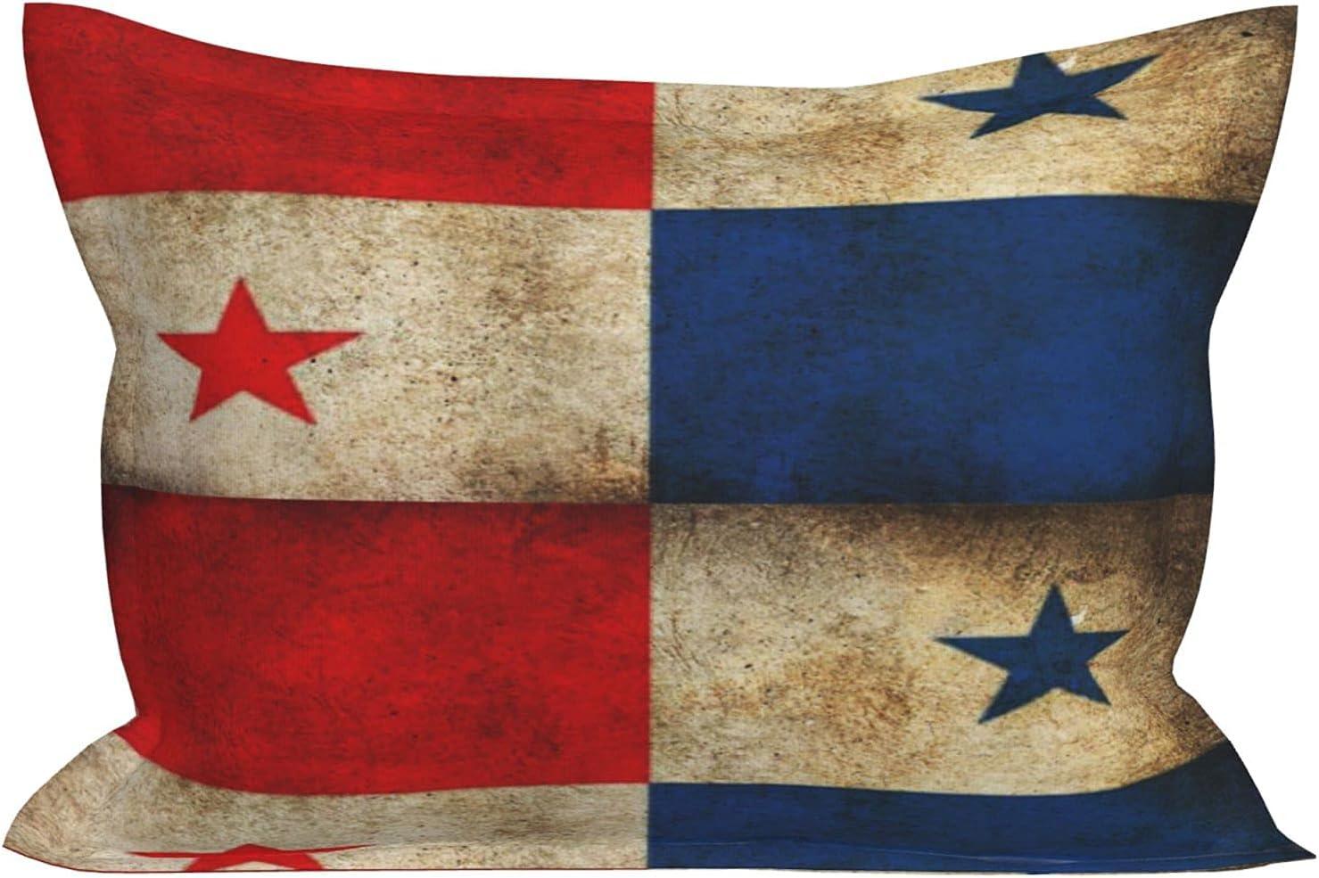 huaxian Panama Flag Grunge Retro Popular popular - New mail order Pillowcase Brushed Microfiber