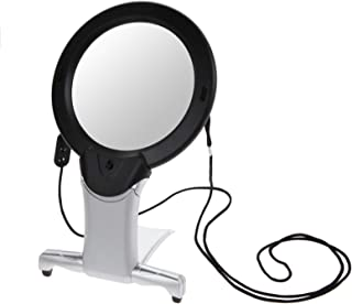 TenYua 6X Large 2 LED Lighted Hands Free Loupe Neck Hanging/Desktop Style Seniors Reading Sewing Repairing Magnifying Inst...