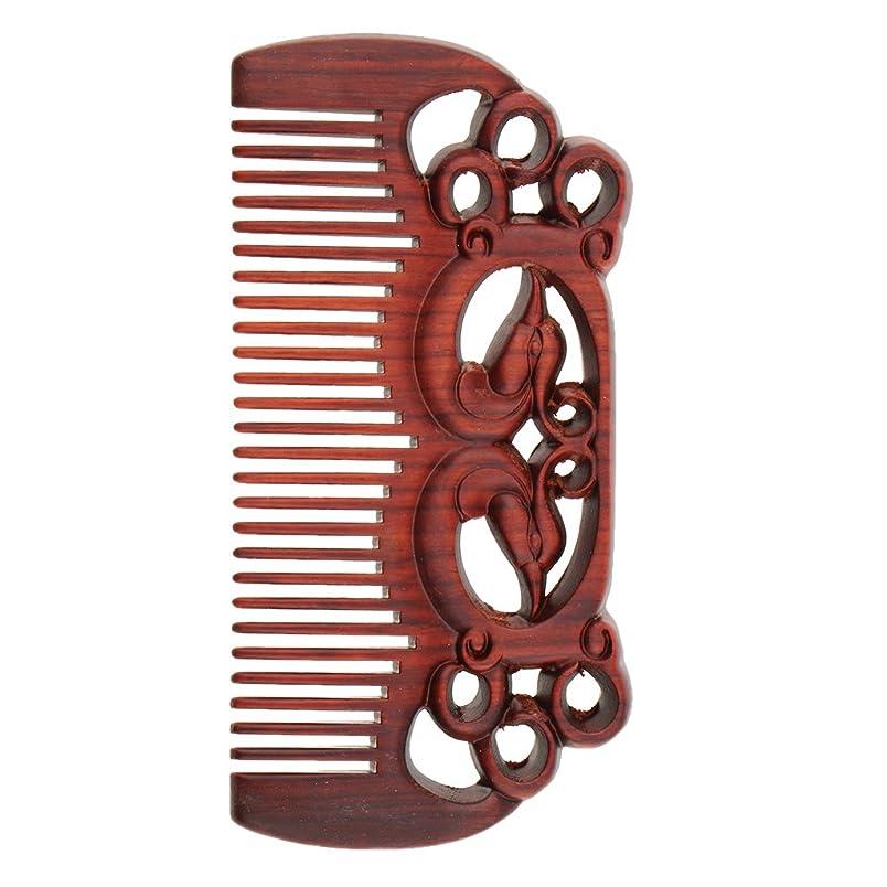 ロバ表示病気Perfeclan ウッドコーム 天然木製 高品質 木製櫛 ワイド歯 ヘアブラシ ヘアスタイリング ヘアコーム 2タイプ選べる - #1