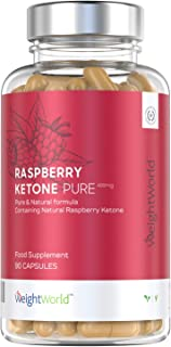 Raspberry Ketone Puro - Suplemento De Cetonas De Frambuesa - Ayuda A Adelgazar De Forma Segura y Eficaz - Perder Peso Y Quemar Grasa De Forma Natural - 90 Cápsulas