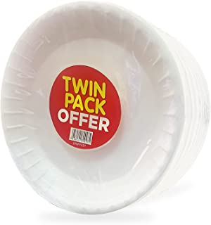 Hotpack Foam Plate, Twin Pack, 50 Pieces, 50 Units