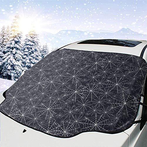 lovely baby-Z Spiderweb - Cubierta para parabrisas de coche de Halloween, protección de invierno, ajuste universal para coches, camiones, furgonetas y SUV, grueso y grande