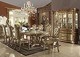 Inland Empire Furniture's Vendera Gold Formal 9 Piece Dining Set