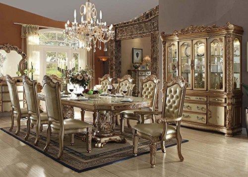 Inland Empire Furniture Vendera Gold Formal 9 Piece Dining Set
