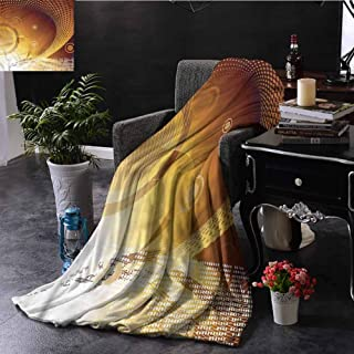 Trippy Outdoor Throw Blanket Double-Sided Printing Pixel Computer Art Theme Couch Bed Napping Reading Recliner W70 xL84