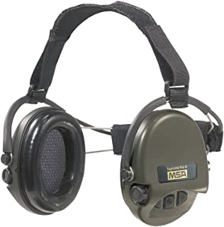 MSA Sordin Supreme Pro X with green cups - Neckband - Electronic Earmuff, slim-design