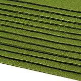 Schnoschi 12 Filzplatten Bastelfilz Filz grün 2-3 mm dick