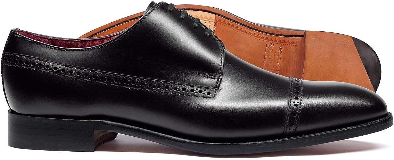 Budapester Derby-Schuhe in England gefertigt mit Zehenkappe und flexibler flexibler flexibler Sohle in Schwarz B07M7868JJ  8fb0f2