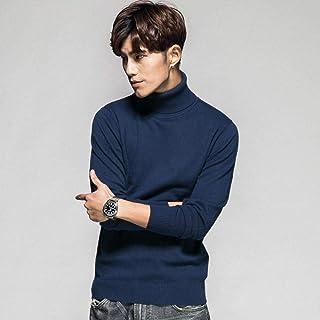 YANGPP Maglione Dolcevita da Uomo Pullover Maglione Autunno Pullover Stile Casual Manica Lunga Pull Homme Solid Slim Fit M...