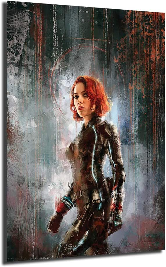 """Details about  /Black Widow 24/""""x36/"""" Canvas Art Poster Wall Prints Paintings Decor"""