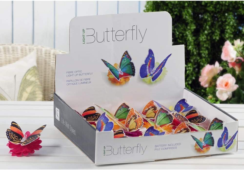 Selling and selling Giftcraft GIFT467684 Led Lighted Butterfly Tea-lite Display excellence With