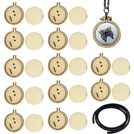 Fansport 3 Kits de Inicio de Bordado,Kit Bordado con Patr/ón e Instrucciones,para Collar Bordado Manualidades DIY