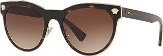 فيرساتشي نظارات شمسية بيضاوي للنساء - بني, VE2198 125213 54