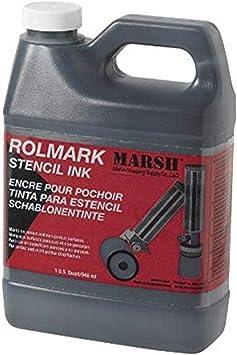 MARSH - 20903 Rolmark Stencil Ink, 1 qt Can, Black