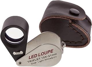 SE Triplet 10x 21mm LED Loupe with Dual White and UV Light - MJ37802LV
