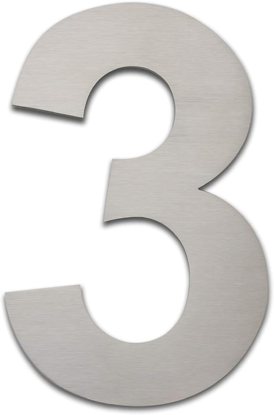 Brushed Modern House Number -8 Inch 203mm Height, Made of Solid